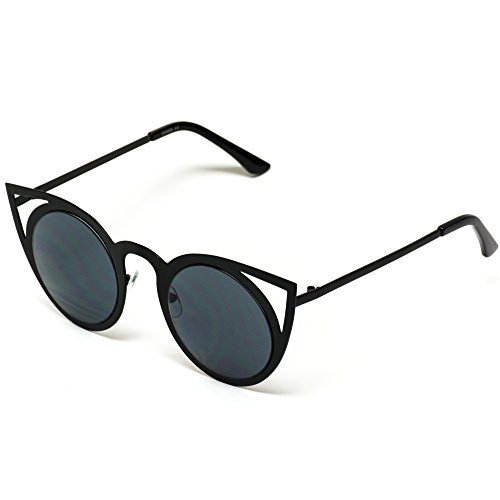 dfc7bf0c26a27 Jual Womens Cateye Retro Fashion Retro Round Lens Cat Eye Sunglasses ...