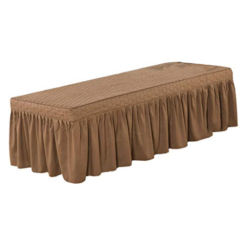 Fityle Massage Table Skirt Beauty Salon Bed Valance Sheet Cover Fit Bed within 73x28inch – Coffee