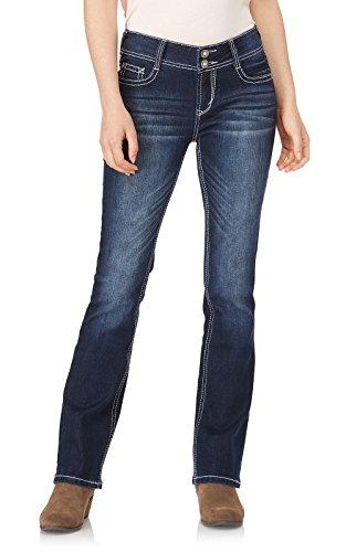 WallFlower Women's Juniors Luscious Curvy Embellished Bootcut Jeans in Kyle, 9 by WallFlower (Image #2)
