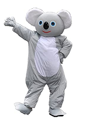 MascotShows Super Cute Koala Bear Adult Mascot Costume Adult Size Fancy Dress Suit