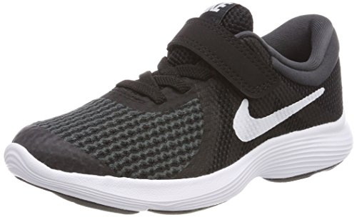 Nike Boys' Revolution 4 (PSV) Running Shoe, Black/White-Anthracite, 13C Youth US Little Kid