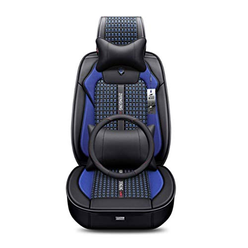 WH Car Seat Cushion Ice Silk 3D Universal Four Seasons Breathable For Five Seats (Color : Blue):