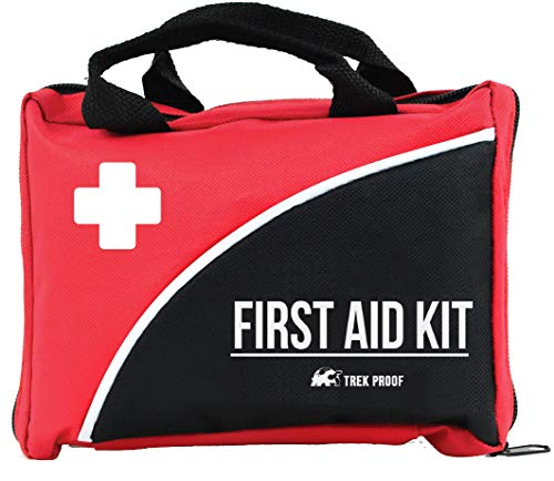 Compact First Aid Kit for Medical Emergency – for Home, Car, Camping, Hiking, Sport, Work, Office, Boat, Survival, and Traveling – Small and Lightweight First Aid Bag