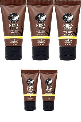 Healing Seed Hemp - Hemp Seed Hand & Body Lotion - Travel Size, 1oz. (5 Pack, Nag Champa Scent)