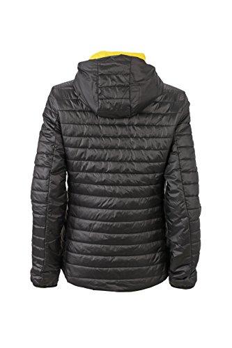 James & Nicholson–Lightweight Jacket Chaqueta Negro / Amarillo