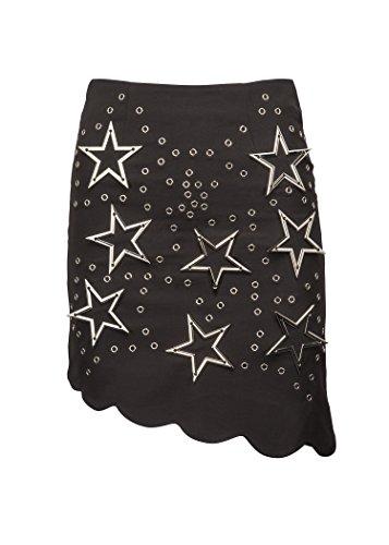 Womens Black Star Studded Mini Skirt – Size Large (Star Big Skirt Mini)