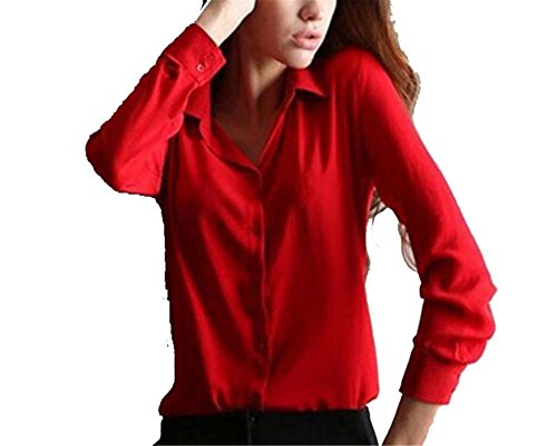 Amazon.com: Best Annie 1PC Women Chiffon Blouse Long Sleeve Shirt Women Tops Office Lady Blusas Femininas Camisas Mujer: Clothing