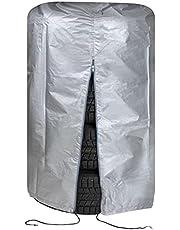 WALSER bandentas, robuuste bandenbescherming, waterdichte bandenbeschermhoes, bandenopslag met rits, bandentas voor 4 banden 15-16 inch