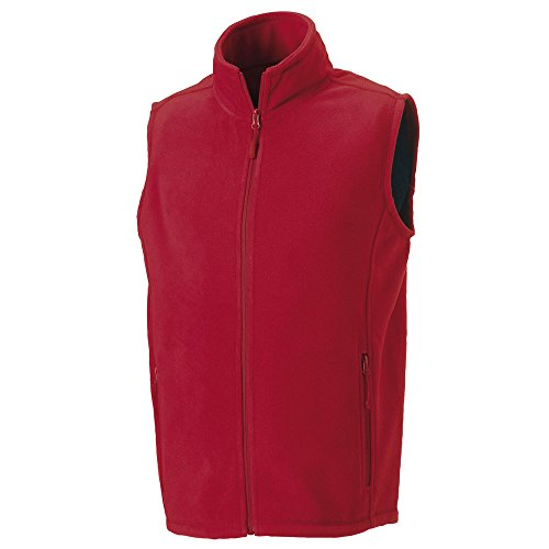 Red Russell Classic Gilet Jackets Outdoor Fleece OOq7ZH