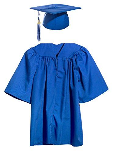 Blue Preschool and Kindergarten Graduation Cap, Gown, Tassel, and Charm - (Preschool Graduation Gowns)