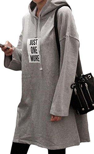 erdbeerloft - Vestido - Opaco - para mujer gris
