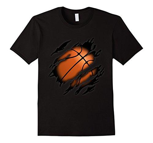 Mens Basketball in me T-Shirt, Basketballshirt Small Black