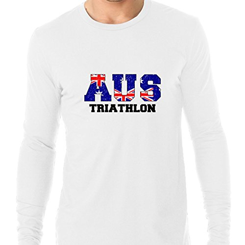 Australia Triathlon - Olympic Games - Rio - Flag Men's Long Sleeve - Australia Triathlon Shop