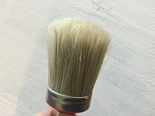 [해외]Chalkology Artisan Series - 타원형 분필 페인트 왁싱 브러쉬, 작고 전문적인 브러시, 퓨어 브리 슬, 니스 처리 된 나무 손잡이/Chalkology Artisan Series - Oval Chalk Paint Waxing Brush, Small, Professional Brush, Pure Bristle, Varnished ...