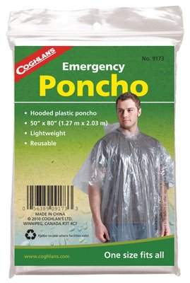 (Coghlans 9173 Emergency Poncho Assorted Colors)