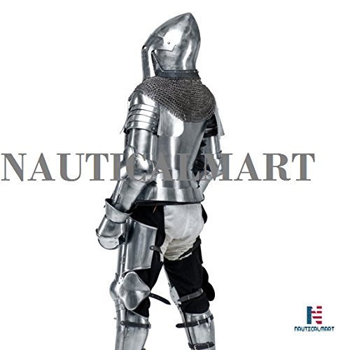 Medieval Knight's Armor SCA LARP steel fantasy battle historical reenactment full medieval armor Halloween by NAUTICALMART (Image #3)