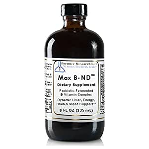 Max B-ND TM, 8 fl oz, Vegan Product - Probiotic-Fermented Vitamin B Complex Formula for Dynamic Liver, Energy, Brain and Mood Support