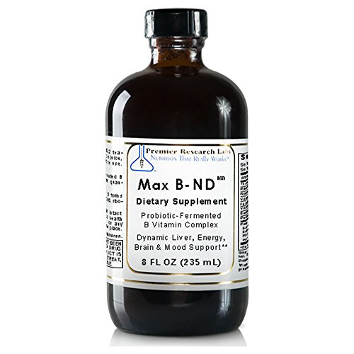 Max B-ND TM, 8 fl oz, Vegan Product – Probiotic-Fermented Vitamin B Complex Formula for Dynamic Liver, Energy, Brain and Mood Support