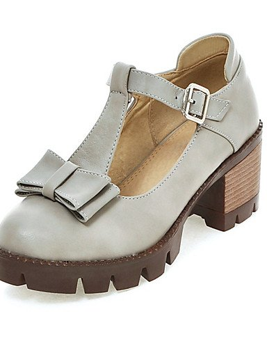 redondo vestido verano del cn43 5 5 tacón zapatos talones gray de GGX uk8 pie gris otoño dedo de del grueso us10 cn36 us10 hebilla gray de tacón uk4 us6 eu36 mujer black zapatos eu42 verde negro 5 eu42 xq6Zwnw0v