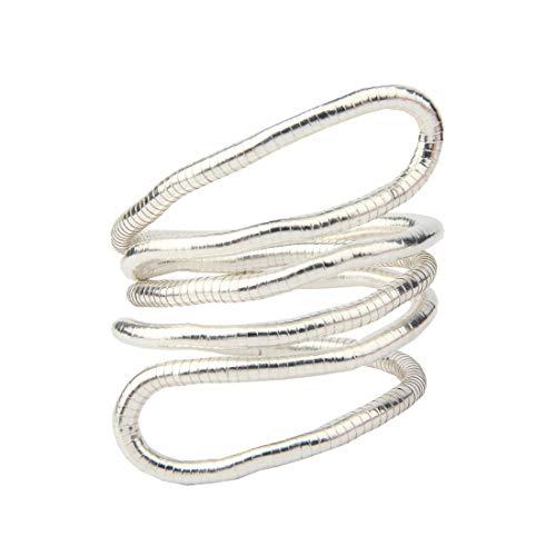 BNQL Bendable Snake Necklace Flexible Multi-Purpose Necklace (Silver)