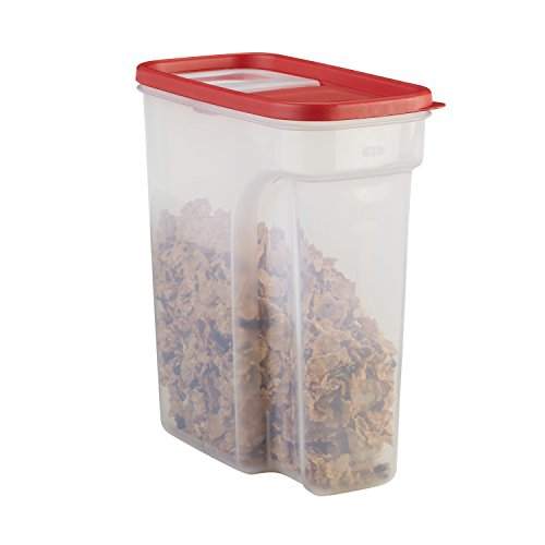 Rubbermaid Modular Food Storage Cereal Container with Flip Top, 18 Cup, Racer Red -