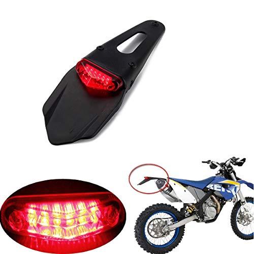 AOZBZ Motorcycle LED Tail Light Rear Fender Brake Taillight for KTM XR250 XR400 XR650 WR250F WR450F CRF250X CRF450X CRF