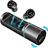 B-Qtech Wireless Earbuds Bluetooth Headphones-Graphene Enhanced Sound Bluetooth 5.0 Stereo HiFi Headphones True Wireless Earbuds with 24 Hours Play Time,Tap Control,Built-in Microphone. (Black)