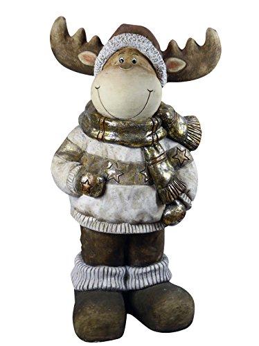 "Alpine Corporation WBL127 33"" Christmas Reindeer Statuary"