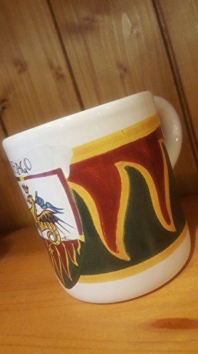 Dragon Mug. Mug with the typical decoration of the Contrade of the Palio di Siena. Drago. - Mug Caterpillar