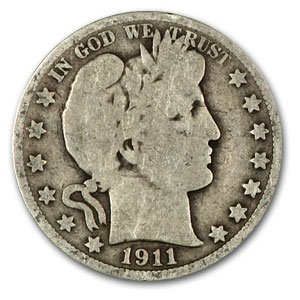 1892 1915 Barber Half Dollars Avg Circ Half Dollar Very Good