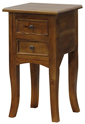 - NES Furniture Fine Handcrafted Solid Mahogany Wood Amsterdam Plant Stand - 28 inches