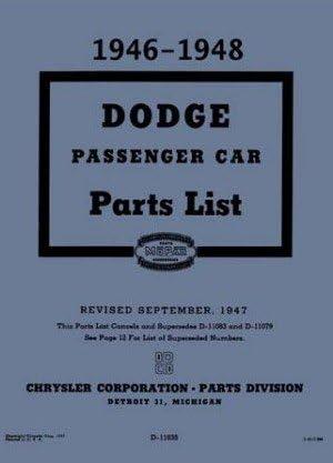 dodge parts diagram amazon com illustrated factory mopar parts manual for 1946 1948  illustrated factory mopar parts manual
