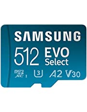 $74 » SAMSUNG EVO Select + Adapter 512GB microSDXC 130MB/s Full HD & 4K UHD, UHS-I, U3, A2, V30 (MB-ME512KA/AM)