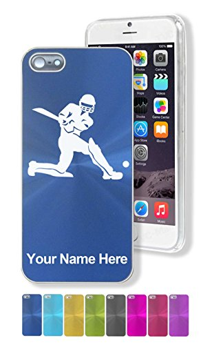 Case for iPhone 5/5s - Cricket Player - Personalized Engraving Included by SkunkWerkz