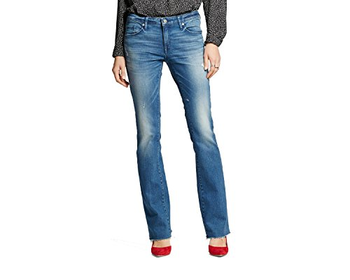 Women's Mid-rise Skinny Bootcut Jeans Medium Wash - Mossimo (6/28R) (Boot Skinny Jeans Cut)