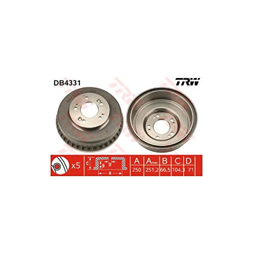 TRW DB4331 Brake Drums:
