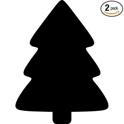 Christmas Silhouette.Amazon Com Angdest Simple Christmas Tree Silhouette Black