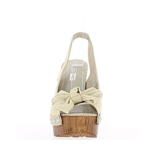 Albicocche sandali tacco 14 cm e vassoio con nodo