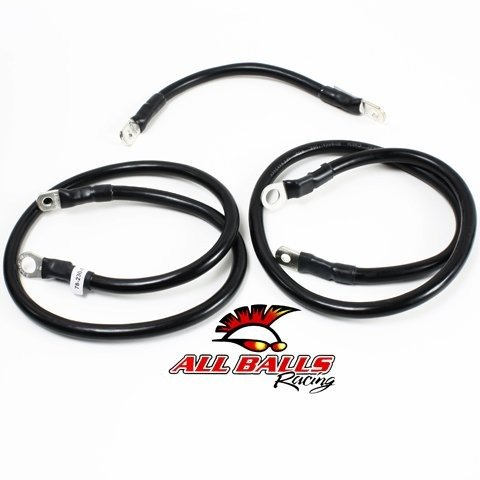 All Balls Battery Cable Kit - Black 79-3007-1
