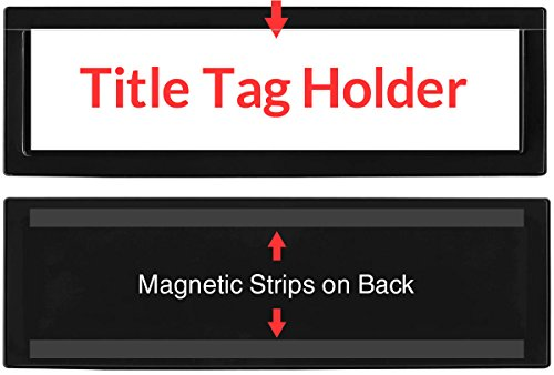 StoreSMART - Black Title Tag Holders with Magnetic Back - 25-Pack - R2142M-BK-25 by STORE SMART