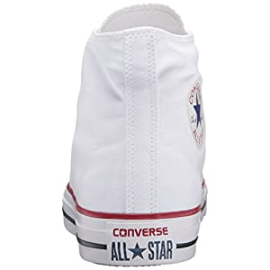 Converse Chuck Taylor All Star Canvas High Top Sneaker, Optical White, 13 US Men/15 US Women