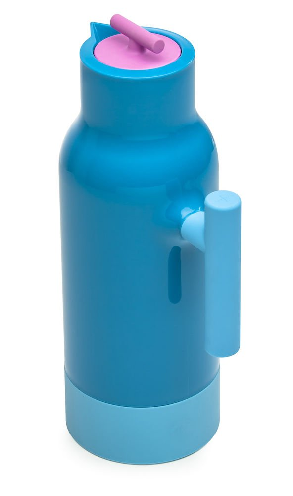 Turquoise Sagaform 5016716 Caf/é Accent Hot or Cold Vacuum Beverage Pot 34 Oz.
