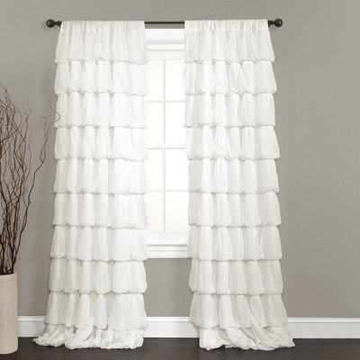 Lush Decor Olivia Window Curtain Panel, 84 by 50-Inch, Off - Olivia And 50