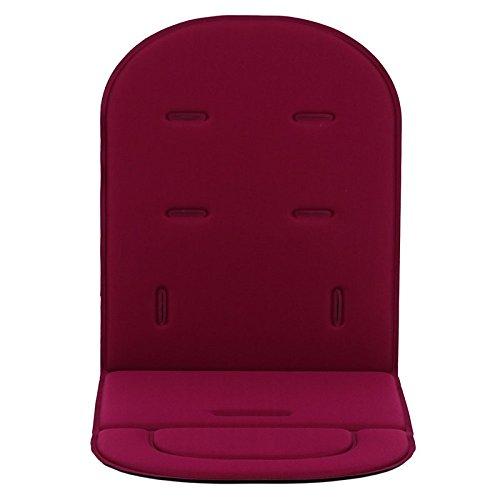 Colchoneta Silla Bebe,Hoyoo,Funda acolchada para asiento de carrito de bebé o asiento de coche,Cojín de poliéster para cochecito, Tamaño del producto: 80 cm * 34 cm * 1.2 cm,Color Vino tinte