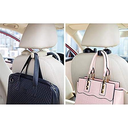 BESTEU Car Storage Hooks Seat Hanger Hook Organizer Plastic Storage Holder Handbag Purse Groceries Bag