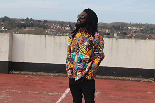 - African Patchwork Shirt Ankara Print Shirt Festival Shirt African Clothing by Continent Clothing
