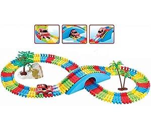 Haktoys Little Champs Track Set - Magic Journey Flexible Playset 154 Pcs Endless Fun and Combinations
