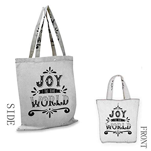 - Joy,canvas shopping bags boston,Monochrome Inspirational Joy to the World Quote Swirls and Dots Retro Winter Print,shopping bag bulk,W14