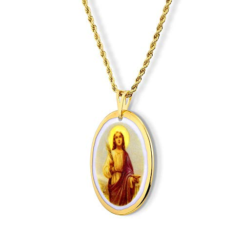 Pingente Medalha Santa Luzia Ouro