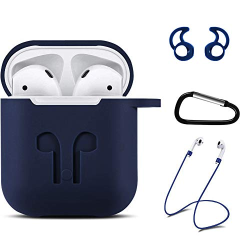 Silicon Silicone Case Skin Cover - Xawy AirPods Case Airpods Accessories Kits Protective Silicone Cover and Skin Compatible with Airpods Charging Case (Blue)
